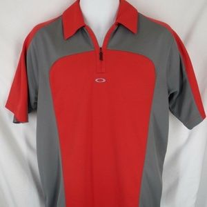 Oakley Mens Size M Medium 1/4 Zip Turtle Bay Shirt